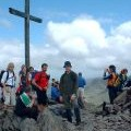 Crowds on Carrauntoohil Summit