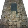 Carved initials, Cracoe obelisk