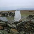 Trig point on the summit of Black Combe
