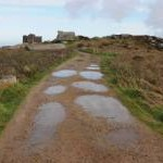 Track leading to Carn Brea Castle