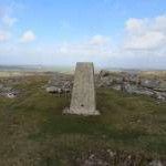 The summit of Fox Tor with its Triangulation Pillar