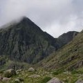 NE face of Carrauntoohil, with Bro O'Shea's Gulley to RHS