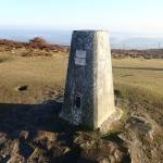 Trig point on Moel Famau