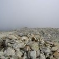 Carnedd Dafydd - the shelter and the summit cairn